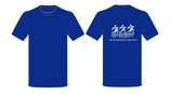 Schulshirt Blau (weißer Aufdruck)