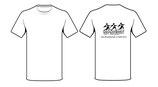 Schulshirt Weiß (schwarzer Aufdruck)