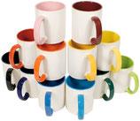 Keramiktasse 2-farbig inkl. Druck 12 Stück