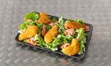 Salade d'aiguillettes de poulet pané