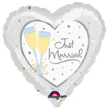 Just Married Sektglas