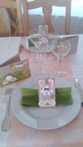 "Table ""lapin de Pâques"""