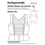 Fertigschnitt Steifes Mieder mit Stecker 092 (ohne Muster)
