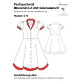 Fertigschnitt Blusenkleid mit Glockenrock 075