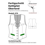 Fertigschnitt 079 Kettlgilet Oberland  (Normalgrößen)