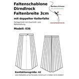 036 Faltenschablone Rock 3cm mit Bund