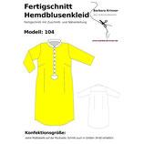 Fertigschnitt Hemdblusenkleid 104