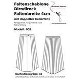 009 Faltenschablone Rock 4cm mit Bund