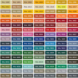 gewünschter Farbton nach RAL-Tabelle