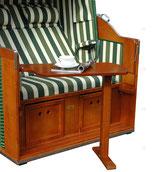 Großer schwenkbarer Seitentisch mit Fuß