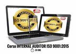 CORSO INTERNAL AUDITOR ISO 9001:2015 CONVENZIONE