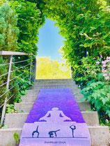 Sunpriseyoga *Purple grown mind* Premium Matte inkl. Tasche, Trainingsmatte, Gymnastikmatte, Sportmatte, Fitnessmatte
