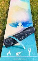 Sunprise Yoga Lotus mind Premium Qualität Yogamatte inkl. Tasche, Trainingsmatte, Gymnastikmatte, Sportmatte