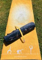 Sunprise Yoga Sun Gold Premium Qualität Yogamatte inkl. Tasche, Trainingsmatte, Gymnastikmatte, Sportmatte