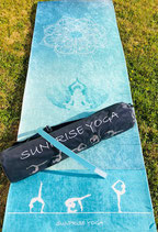 Sunprise Yoga Green Love Circle Premium Qualität Yogamatte inkl. Tasche, Trainingsmatte, Gymnastikmatte, Sportmatte