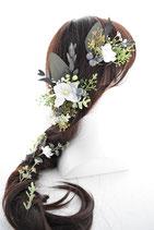 ラスティック・グリーンのヘアーパーツセット