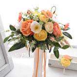 即納OK 華やかポピーとオレンジのお花のクラッチブーケ
