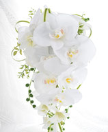 コチョウランのセミキャスケードブーケ(造花)
