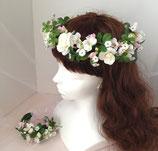 花冠とリストレットのセット・ミニバラ