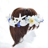 サマー花冠:プルメリアとスターフィッシュとシェルと・・・