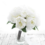 真っ白なシャクヤクのグランブーケ(造花クラッチブーケ)