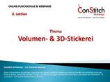 Volumen & 3D Stickerei