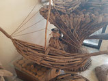 Handgemaakte set van houten boten (5 stuks)