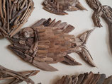 Mooie grote vis, gemaakt van sprokkelhout