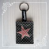 Schlüsselanhänger Dots-Charcoal/Stern Punkte-Lavender