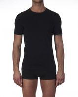 Tee-shirt col V - Oscalito 2804- noir - coton & élasthanne