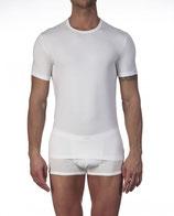Tee-shirt col V - Oscalito 2804- blanc - coton & élasthanne
