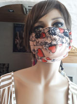 Modèle DAME de COEUR - Masque barrière