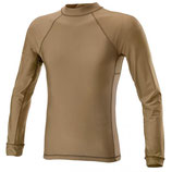 TEE-SHIRT MANCHES LONGUES LYCRA + MESH COYOTE - DEFCON 5