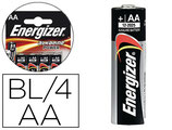 PILE ENERGIZER ALCALINE POWER LR06 TAILLE AA BLISTER 4U