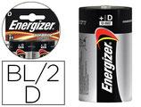 PILE ENERGIZER ALCALINE POWER I.C.E. LR20 TAILLE D BLISTER 2U