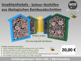 Insektenhotels - Selmer Nisthilfen aus ökologischen Bambusabschnitten