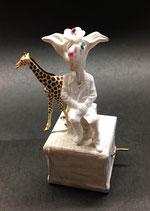 Umgucker mit Giraffe