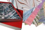 Set-Box mit 50 Bg. DinA4 Original Marmor-Buntpapier