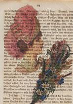 """LostPaper"" - Feldblumen-Frau - Briefkarte (m. Umschlag)"