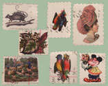 "7 Briefmarken ""ad"" Sort.I"