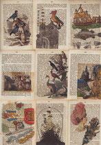 """""""LostPaper"""" - Set von 9 Motiven - Briefkarten (m. Umschlägen)"""