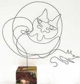 """""""Katze + Maus"""" - Eindraht-Figur"""