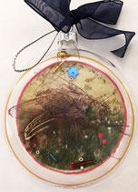 Glas-Anhänger WIES, rund 8cm - dick 2 cm