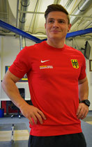 Support German Weightlifting Shirt - red