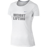Women's Dri Fit Weightlifting Shirt - weiß