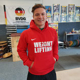 Team Club Weightlifting Hoody - rot