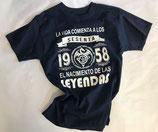 T-Shirt Italienisch Gr. L dunkelblau NEU
