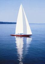 Postkarte: Segelboot