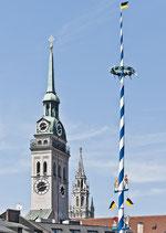 Postkarte: Alte Peter u. Rathaus