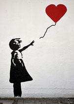 Postkarte: Flieg, rotes Herz!